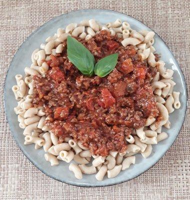 maaltijdpakket macaroni volkoren bolognese