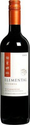 wijn rood - carmenere - elemental - 750 ml