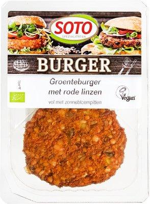 groenteburger met rode linzen - 160 gram