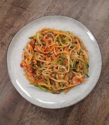 courgette spaghetti (vega)