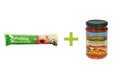 package deal - vers pizzadeeg + pizzasaus champignon