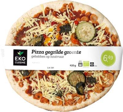 pizza gegrilde groente