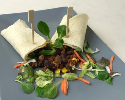 chili wraps (vegan)