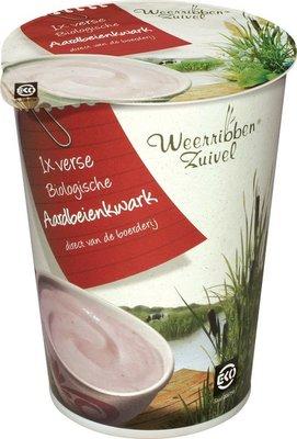 kwark aardbeienkwark - 500 gram