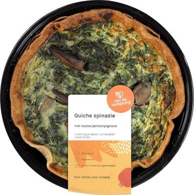 quiche spinazie-kastanjechampignons