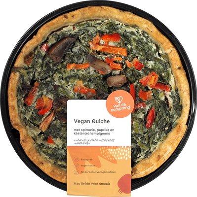 quiche vegan spinazie-paprika-champignons