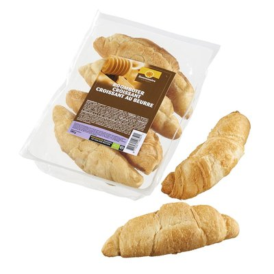 bio roomboter croissants - 4 stuks