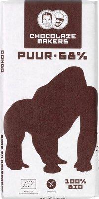 chocoladereep puur 68% - gorilla - 90 gram