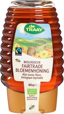 bloemenhoning fairtrade knijpfles - 365 gram