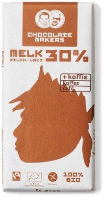 chocoladereep melk 30% met koffie - awajun - 90 gram