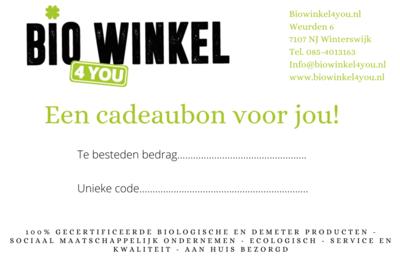 Cadeaubon Biowinkel4you.nl €20,-