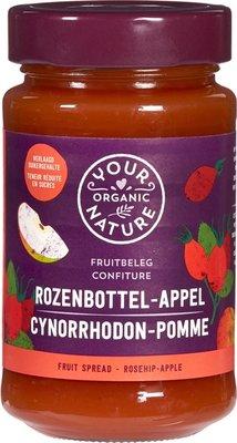 jam rozenbottel-appel - your organic nature - 250 gram