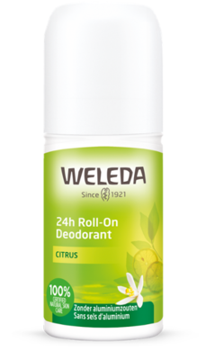 deodorant - 24h roll-on citrus - weleda - 50 ml