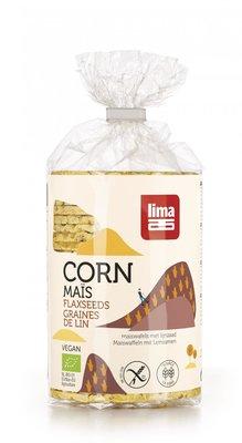 maiswafels met lijnzaad - 130 gram