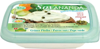 vegan roomkaas groene peper - 140 gram