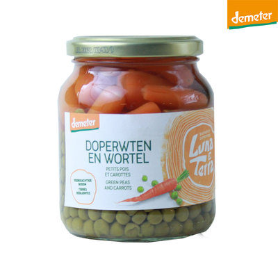 doperwten en wortel demeter - 340 gram
