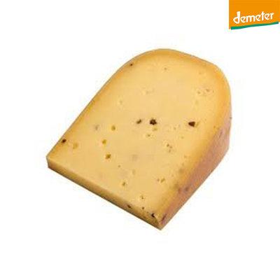 de vijfsprong kaas knoflook basilicum demeter - 500 gram (afwijking 50 gram)