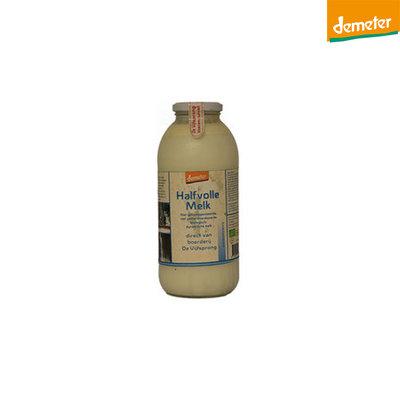 de vijfsprong melk halfvolle demeter  - 1 liter