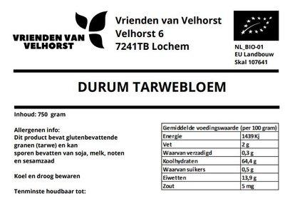 durum tarwebloem (velhorst) - 750 gram