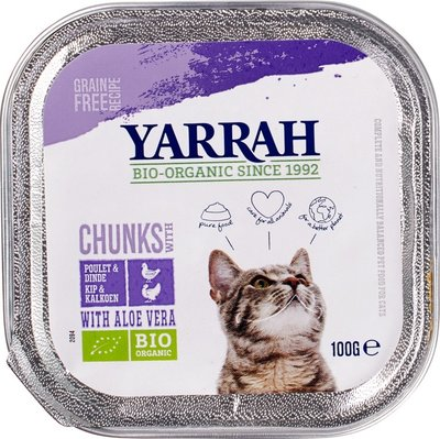 kat - brokjes kip/kalkoen - 100 gram