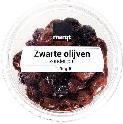 olijven zwart (zonder pit) - 125 gram