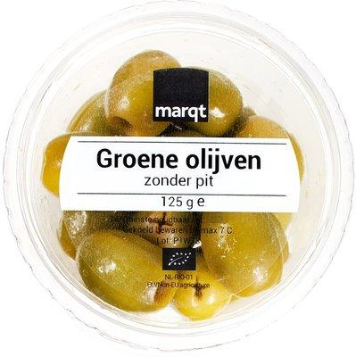olijven groen (zonder pit) - 125 gram