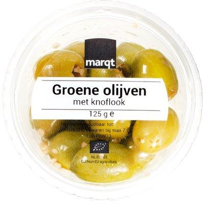 olijven groen knoflook - 125 gram
