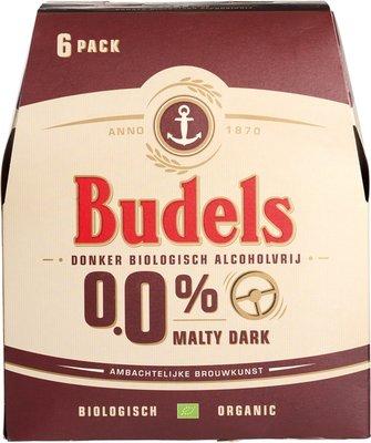 bier - 0,0% malty dark - budels - 6-pack
