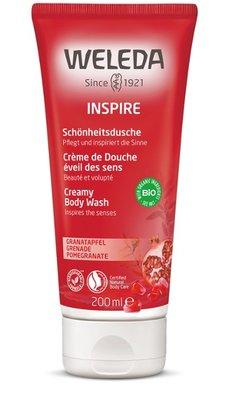 granaatappel inspire douchecreme - weleda - 200 ml