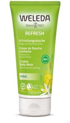 douche - citrus refresh douchecreme - weleda - 200 ml