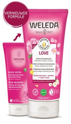 douche - aroma shower love - weleda - 200 ml