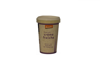 de vijfsprong crème fraiche demeter - 200 gram