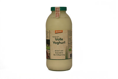 de vijfsprong yoghurt demeter - 1 liter