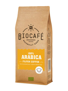 biocafé filterkoffie arabica - 500 gram