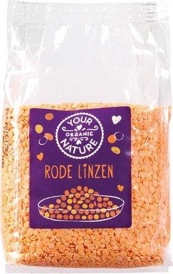 Rode Linzen (gepeld en gesplitst) - 400 gram