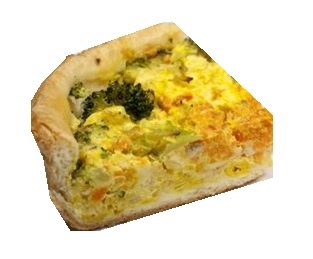 broccoli-cashew quiche