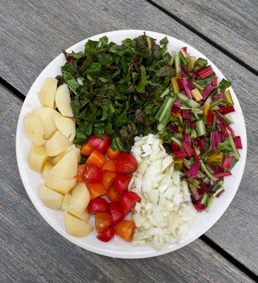 Snijbietstamppotpakket vegetarisch - 2 personen