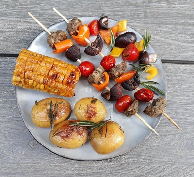 vegetarisch BBQ maaltijdpakket