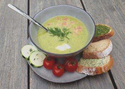 courgettesoeppakket vegetarisch - 4 personen